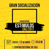 cura Estimulos cali 2017. programa de estimulos en modalidad de beca al sector cultural y creativo de la ciudad.